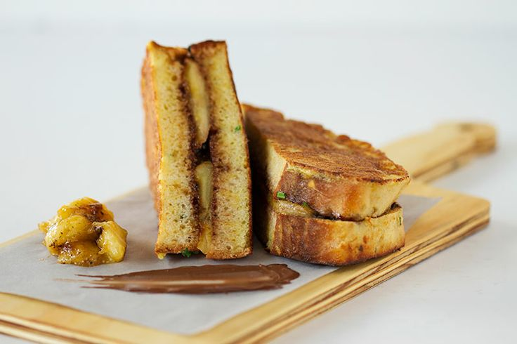 French Toast sandwich with Banana & Nutella CRAFT Restaurant Parkhurst