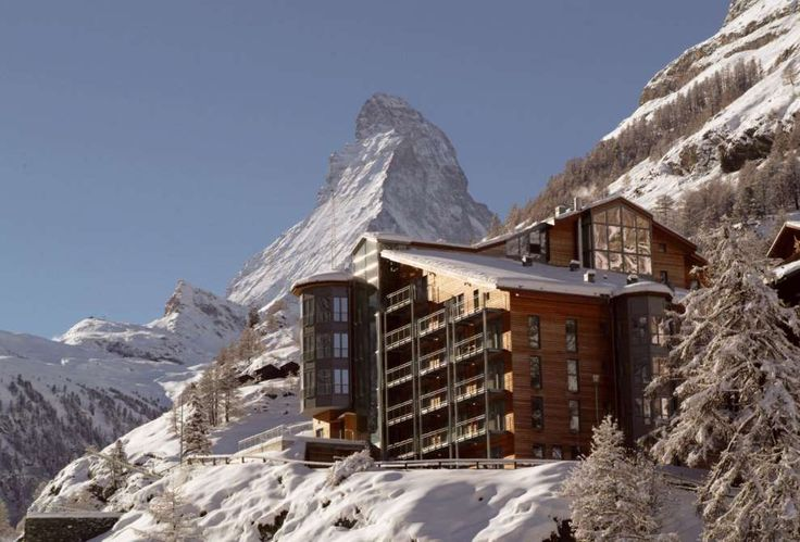 From the Bond-like cave entrance to the indoor and outdoor spa, this Zermatt…