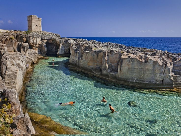 Amazing natural pool in the south of Puglia, the heel of Italy...definitely want to visit here!
