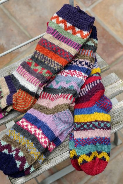 recycled woolen socks handknitted energy saving ruby plum #fashiontakesaction