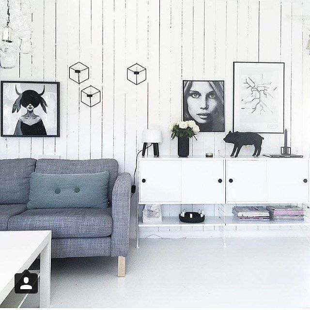 modular system by tannfeenshjem. string shelves in a classic livingroom interior via stringfurniture