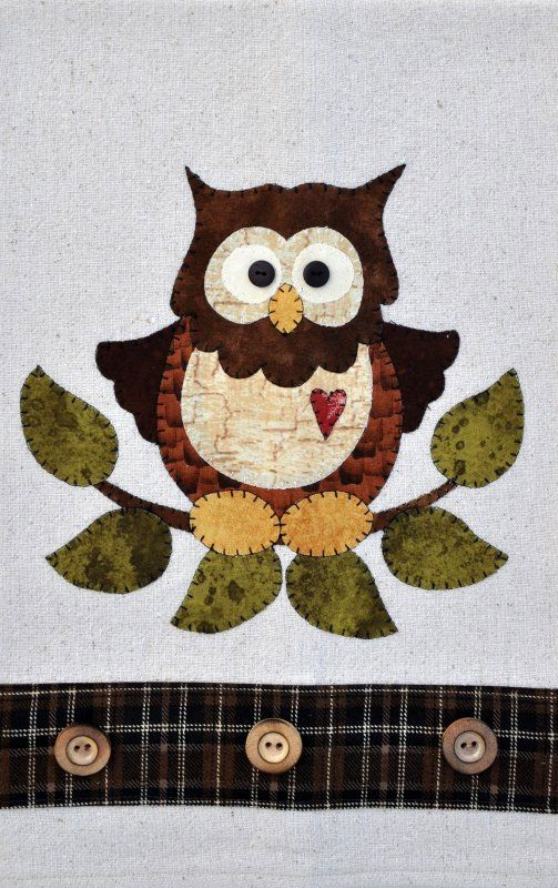 Little Hoot Owl Applique Pattern by The Wooden Bear at KayeWood.com