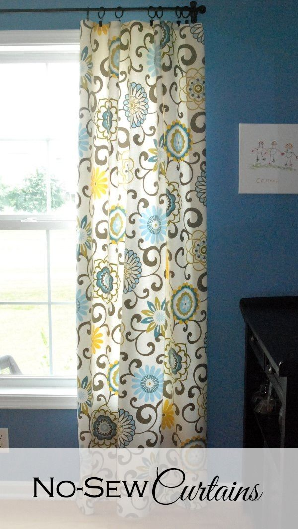 DIY No-Sew Curtains: Learn how to whip up a set of curtains in no time at all -- without sewing a single stitch.