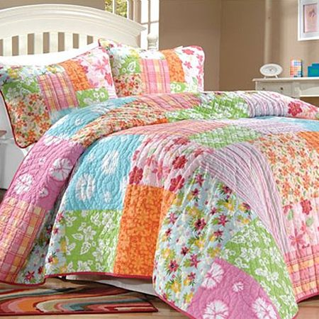Aloha Tropical Quilt Girls Bedding Collection Quilt