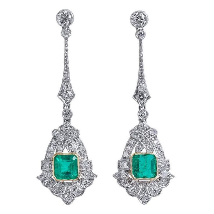 Vintage Solid 22 Carat Gold Necklace Earring Pair Set: 1000+ Ideas About Colombian Emeralds On Pinterest