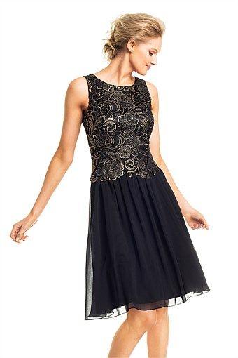 Grace Hill Lace Bodice Dress