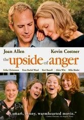 The Upside of Anger - 2005  Joan Allen, Kevin Costner, Erika Christensen, Evan Wood, Keri Russell, Alicia Witt, Mike Binder, Dane Christensen...  An ex-ballplayer (Keven Costner) befriends a mother (Joan Allen) of four who has hovered in a boozy funk since her husband abandoned her.