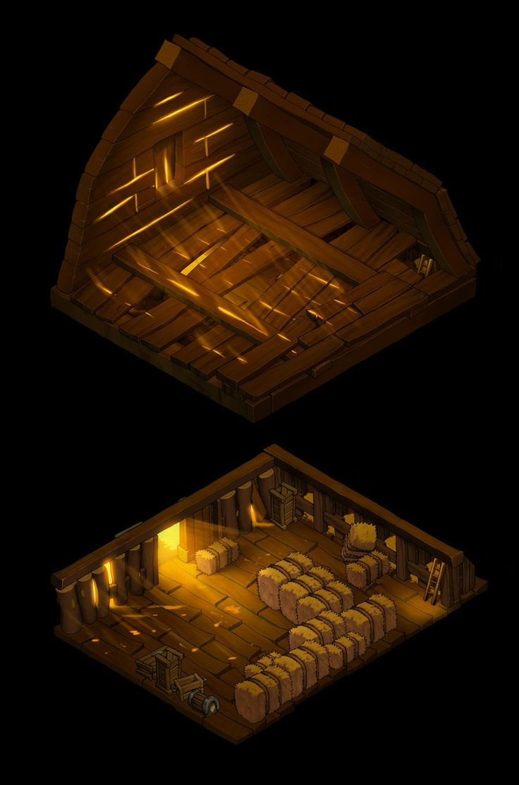 Barn Dungeon top + base by danimation2001.deviantart.com on @deviantART