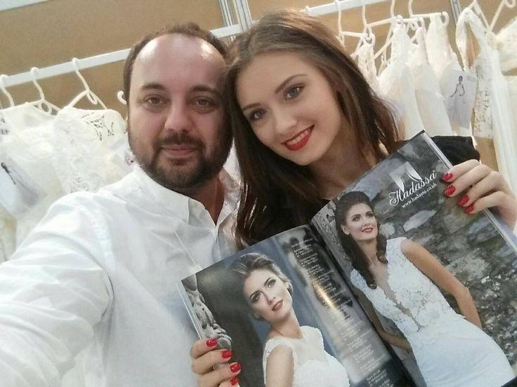 Svadobné šaty Hadassa - majiteľ a modelka