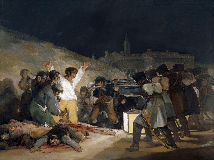 Goya's Peasant Before the Firing Squad.