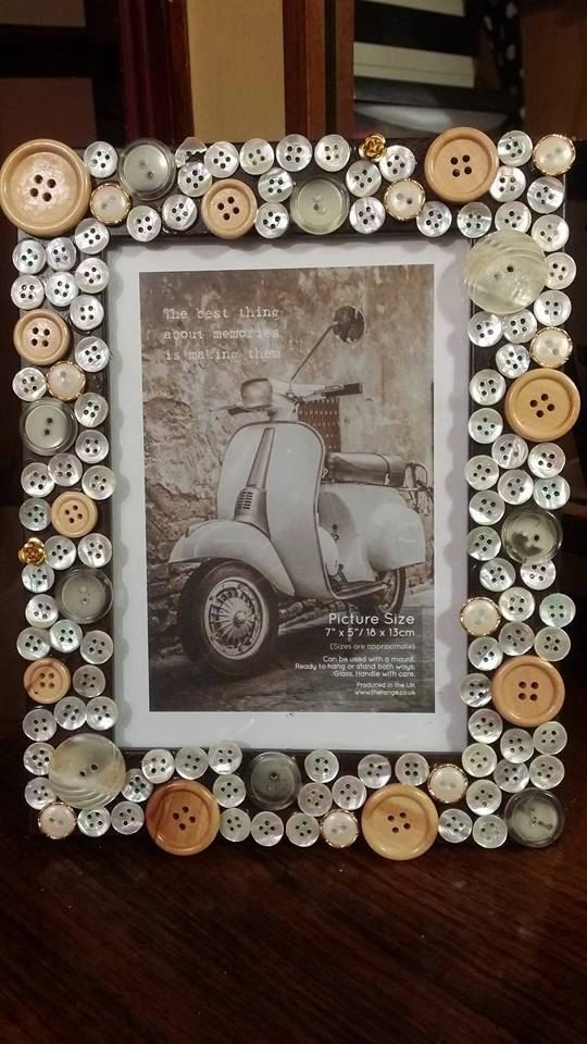 Pearlywood Button Frame by ButtonyBobs on Etsy