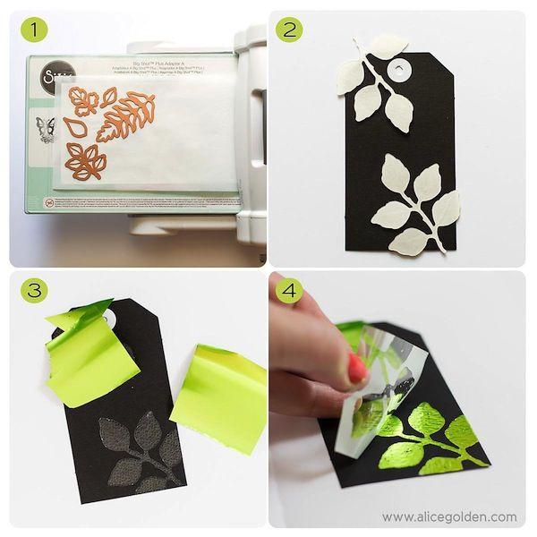 using deco foil and laminator