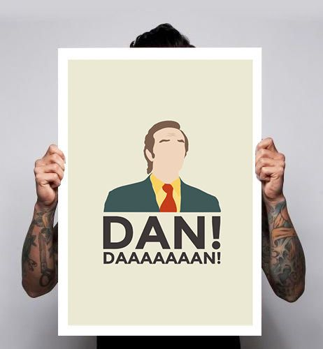 Alan Partridge Mid Morning Matters Dan Steve Coogan Home Poster Print Art