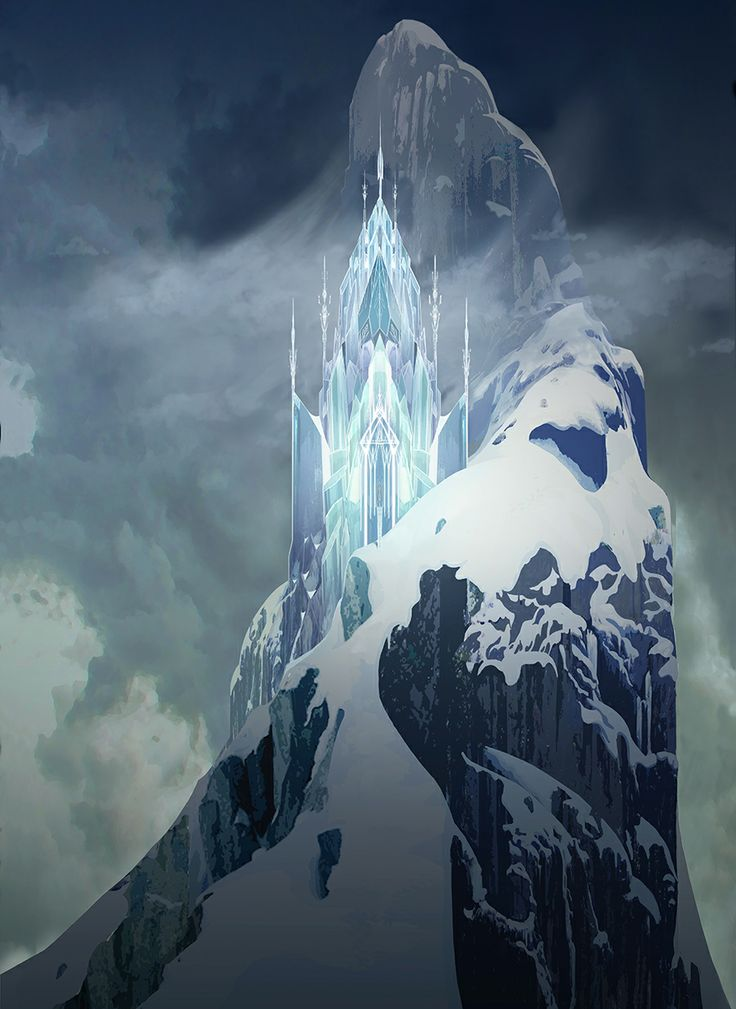 Concept art of the Elsa's Ice Castle #DisneyFrozen