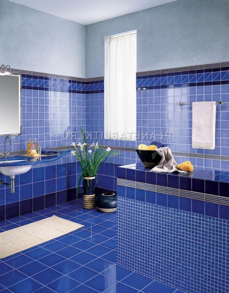 Bright blue tile