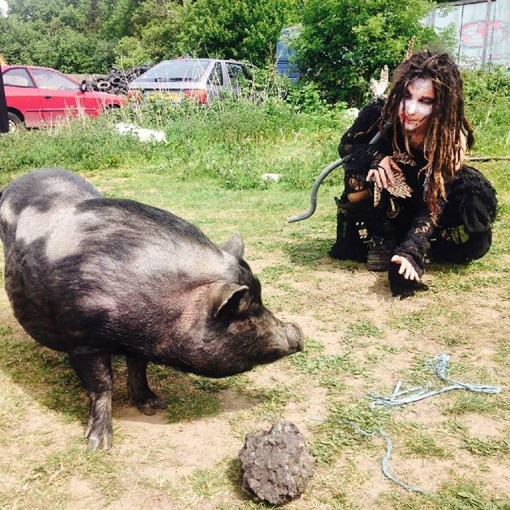 Making friends Behind the scenes filming for Dani Filth and Devilment music video