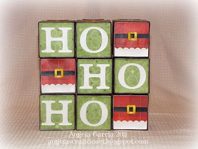 These would be cute to make by finding some awesome christmas paper and mod-podging them to wooden blocks.  Great idea.