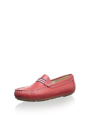 W.A.G. Kid's Striped Strap Loafer (Rojo)