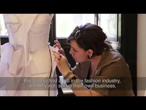 Haute Couture embroidery school. Rome-Milan. Corsi pratici Moulage e ricamo d'Alta moda. - YouTube