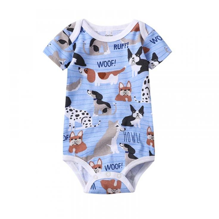 Babies Boys Clothing Bodysuit Newborn Baby Girls Short Sleeve Body 3 6 9 12 18 24 Months Summer Clothes