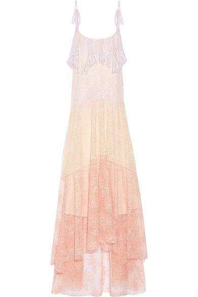 Lilac, pastel-yellow and pastel-pink guipure lace Slips on 100% polyamide Dry clean Designer color: Tye Dye Pastels