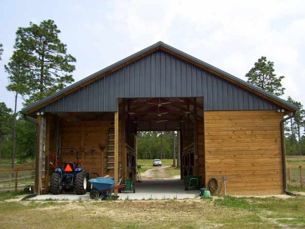 38 best images about barns on pinterest hitching post for Best horse barn plans