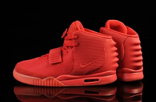 Red on Red Yeezys 2