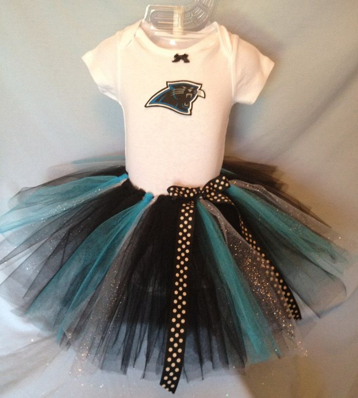 FREE SHIPPING NFL Carolina Panthers Tutu Cheer Dress Outfit for Baby Girls by hollieshobbies1 on Etsy