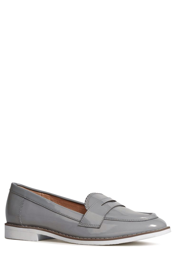 Next Patent Sporty Loafers in Grey - £28