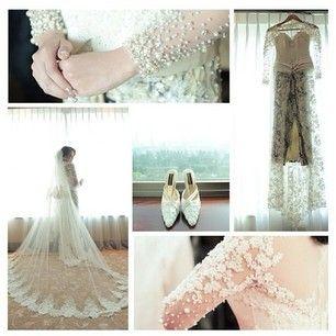 Detail wedding kebaya by ivan gunawan collection