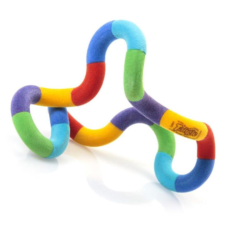 The fuzzy tangle is a silent fidget toy that is great for the classroom. Can be discreetly used in lessons or in your downtime at school.  The added fuzzy texture creates an extra tactile element but this isn't for everyone. Normal plastic tangle toys are also available.