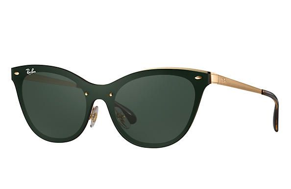 BLAZE CAT EYE sunglasses | Lens color: Green Classic, Frame color: Gold | Ray-Ban