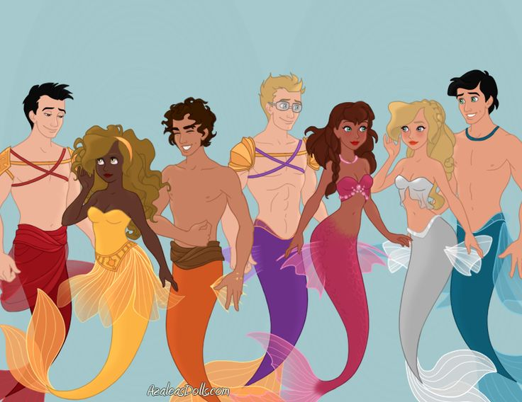 The seven as mermaids art by gghostkking pjo hoo for Professor archimedes q porter
