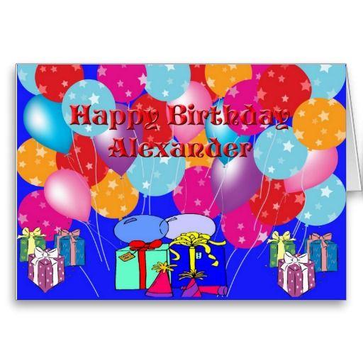 Birthday Card For Alexander