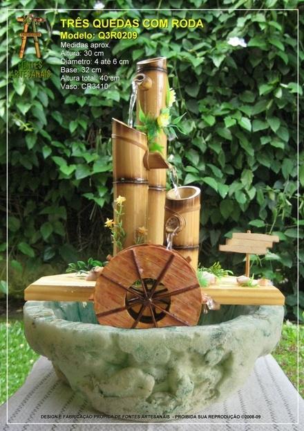 Fotos de Fonte De Água Feng-shui Em Bambú - R$ 88,00                                                                                                                                                      Mais