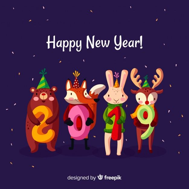 More Than A Million Free Vectors Psd Photos And Free Icons Exclusive Freebies And All Graphic Resources That You Newyear Happy New Year Happy New Year 2019