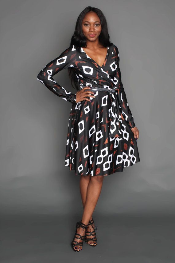 THE ENIOLA Wrap Dress in Classic Mudcloth African Prints, African fashion styles, African clothing, Nigerian style, Dashiki Dress, Ghanaian fashion, African women dresses, African Bags, African shoes, Kitenge, Gele, Nigerian fashion, Ankara Maxi Dress, African Fall Fashion, African Wedding, African wrap dress, mudcloth