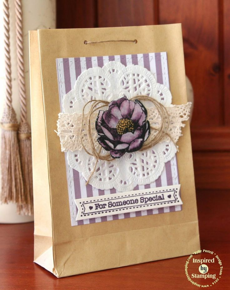 Inspired by Stamping - Gift Bag using Elegant Flowers and Petite Banners