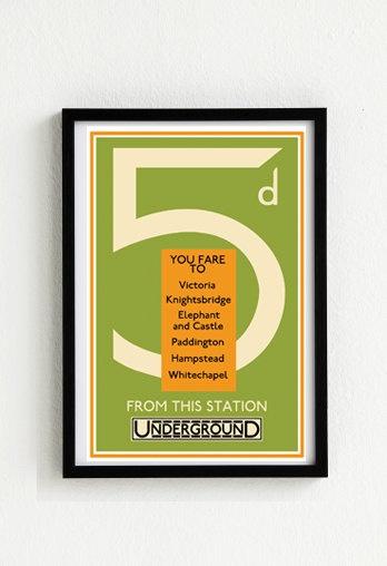 London Underground Vintage Poster