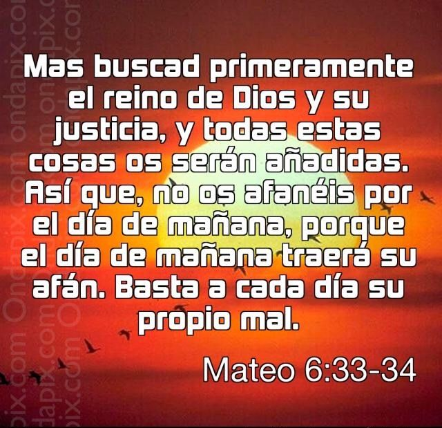La preocupacion arruina nuestra vida diaria...  Aprendamos a confiar y a creerle a Dios.... Bendiciones...