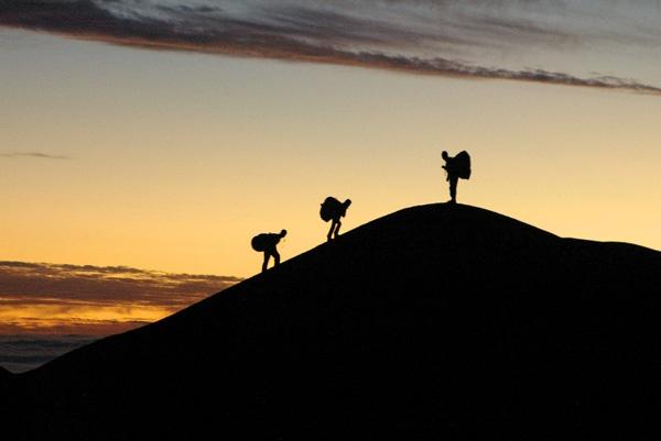 Dunes of Alto Palo Buque at sunset, Iquique, Chile
