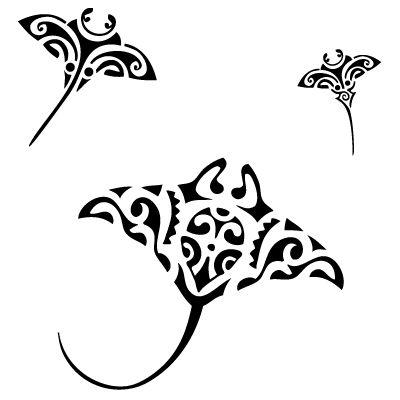 pochoir maori raie manta