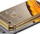jj-lj (TM) New superdünn Luxus Aluminium Metall Spiegel PC Rückseite Case Cover + Metall Bumper für Apple iPhone 6/6S/Plus/5S, metall, gold, IPhone 6S Plus