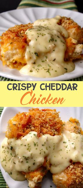 Crispy Cheddar Chicken | Think food
