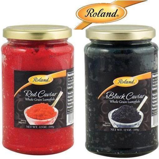 Roland Black & Red Whole Grain LUMPFISH CAVIAR 12oz (340gr) Product of Iceland #Roland