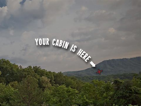 Your cabin is here at The Smoky Mountains National Park.