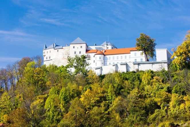 Lupča castle seen from the village