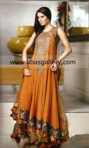 Latest Party Designer Wear Dresses 2013 By Umar Sayeed At Bridal Couture Week 2013 Collection Buy Online in USA, UK, Saudi Arabia, UAE
