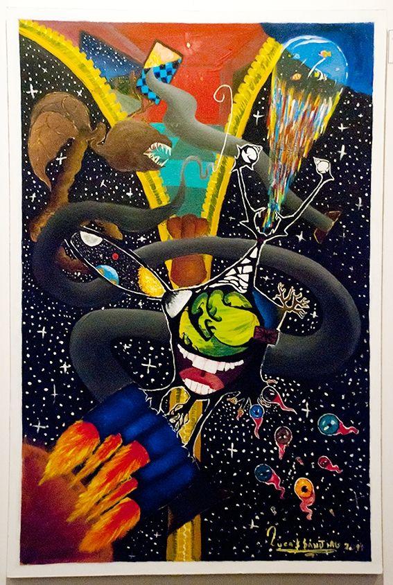 """Universo 6.9.4.4 El Nacimiento de Lucas Sanjiau  """"No a la venta"""" Acrílico 60 x 90 cm Lucas Sanjiau"""