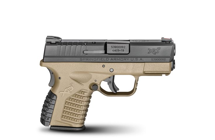 "XD-S 3.3"" single stack 9mm polymer pistol. Find our speedloader now!  http://www.amazon.com/shops/raeind"